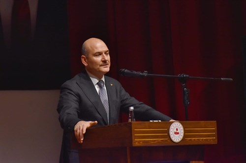 Minister of Interior, Mr. Süleyman SOYLU, shared his experiences at the Gendarmerie and Coast Guard Academy Traditional Wednesday conferences