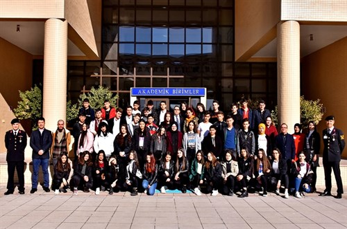 Şentepe Sınav Anatolian High School and Private Ankara Bulus College Students' visit to the Presidency of GCGA