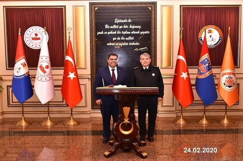 The Rector of Gebze Technical University and Head of Internal Security Strategies Department of Ministry of Interior Visit to the Presidency of GCGA